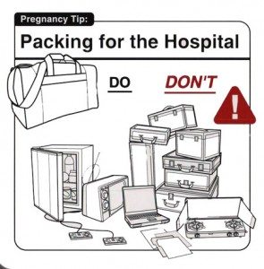Packing for the hospital 295x300 Daft Do's and Don'ts – Packing For The Hospital