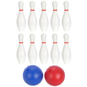 DD bowling Product Review: Sizzlin Cool XXL 10 Pin Bowling Set by Toys R Us